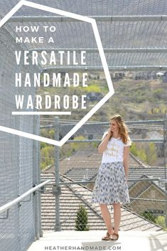Have you ever sewn something and then never worn it? Have you sewn something and didn't have anything to coordinate with it? This is a post full of tips to tell you how to plan a handmade wardrobe so that you'll wear it! #sew #sewing #handmade #handmadew