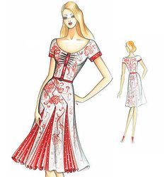 F2815 - If I ever get good enough at sewing, this would be a lovely dress to try to make!