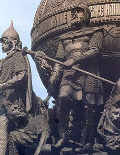 Dmitriy Donskoy in the Battle of Kulikovo. Grand Prince, Greek Icons, Imperial Russia, Dark Ages, Our Lady, Paladin, Moscow, Medieval, Saints
