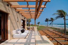 terrace modern designed sandstone exterior facade panels glasgelaender