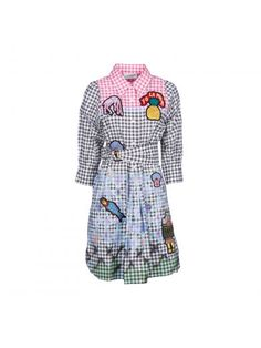 Peter Pilotto Woman Patch Applique Cotton-blend Printed Gingham Top Multicolor Size 12 Peter Pilotto Countdown Package Cheap Price Free Shipping Brand New Unisex 3TRsyirnIF
