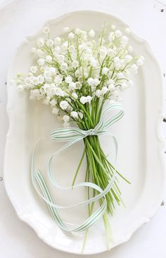 In France May is also La Fête du Muguet, The Festival of the Lily of the Valley, with its tradition of giving a small bouquet … Types Of Flowers, My Flower, Fresh Flowers, White Flowers, Beautiful Flowers, Birth Flower, Flower Girls, Lily Of The Valley Bouquet, Valley Flowers