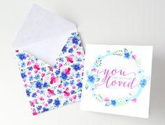 FREE printable card and floral envelope