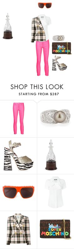 """""""Untitled #2131"""" by ayse-sedetmen ❤ liked on Polyvore featuring J Brand, Belpearl, Charlotte Olympia and Moschino"""
