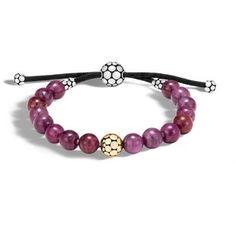 John Hardy Bead Bracelet With Indian Ruby