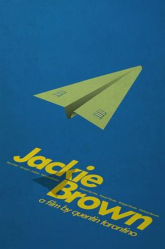 Minimalist poster on Jackie Brown (a film by Quentin Tarantino). Quentin Tarantino, Tarantino Films, Jackie Brown, Poster Series, Poster On, Poster Prints, Poster Ideas, Django Unchained, Reservoir Dogs