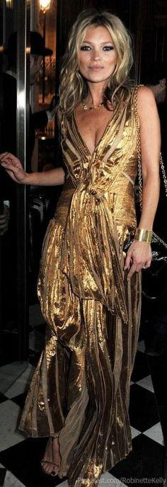 I adore gold dresses! Golden goddess style! gold