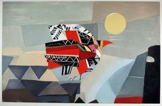"""Max Papart (French, 1911-1994), """"Harlequin Bird,"""" 1980; Indianapolis Museum of Art, Gift of Dr. and Mrs. Eugene D. Van Hove, 1991.3114; © Artists Rights Society (ARS), New York/ADAGP, Paris"""