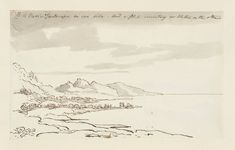 John Constable, A Varied Landscape on One Side, and a Flat Country or Water on the Other, graphite, ink and watercolor on paper, c.1823