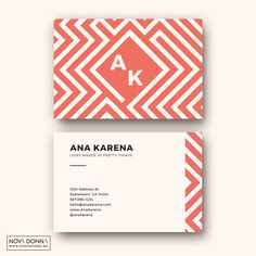 Make a fun and sassy statement with these business card design templates. This design is based on mazes and geometrical magic.