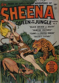 Sheena #2 Winter, 1942. Visions of Exotica that inspired my Exotica Jewellery collection. Browse here : http://rositabonita.com/collections/exotica