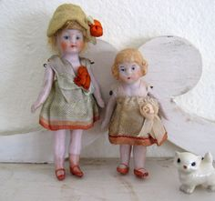 Antique German Dollhouse Bisque Flapper Doll by Somethingcharming