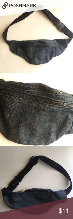 3dae5c347eb Vintage Denim Waist Fanny Bag