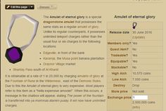 Thanks 2007 RuneScape Wiki now I know what the Eternal Glory's REAL perks are.