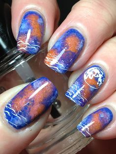 Not Quite Galaxy Nails!