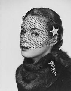 Photo by Philippe Halsman, 1950. #vintage #1950s #fashion #stars