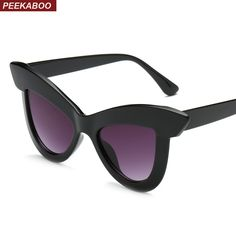 0f00e66fdf558  5.99 Peekaboo oversized square sunglasses women retro vintage 2019  transparent big black sun glasses men black leopard uv400  cateyesunglasses   gift   ...