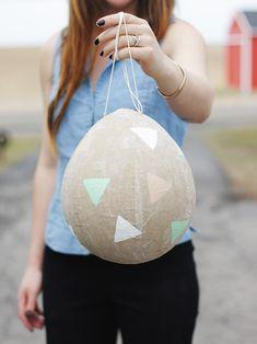 DIY Kraft Paper Easter Egg Piñata @themerrythought