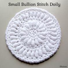 Small Bullion Stitch Doily ~ FREE Crochet Pattern