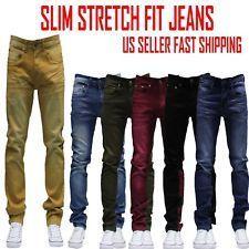 85a1d0f3b796b6 MEN Jeans Slim STRETCH FIT SLIM FIT Trousers Casual Pants SKINNY BLACK JEAN  #MensJeans Slim