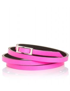 fuchsia color belts | pop of color skinny belt | pink
