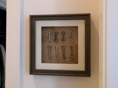 Framed Skeleton Keys! Have to make this with my left over Skeleton Keys from the wedding.