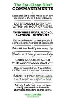 Eat Clean Diet Commitments