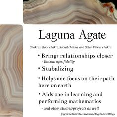 Laguna Agate crystal meaning