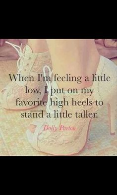 Yes. Something about wearing heels makes me feel Sexy...