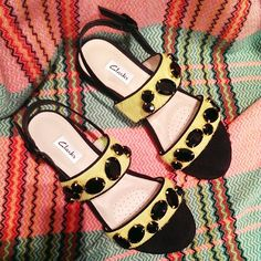 Black jewels and neon lime ponyskin - Hurry up, sunshine! @Clarks Shoes