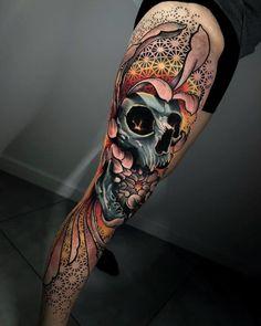 Arm Sleeve Tattoos, Chest Tattoo, Leg Tattoos, Feminine Skull Tattoos, Sugar Skull Tattoos, World Famous Tattoo Ink, Famous Tattoos, Best Tattoos For Women, Cool Tattoos For Guys