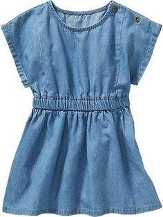 Chambray Dresses for Baby