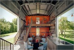 Incredible house made of shipping containers by American architect Adam Kalkin. Click through for more amazing pics.