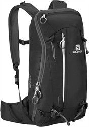Salomon's QUEST 15 - The Quest 15 carries basic backcountry gear, along with skis or snowboard, when you are making fast forays out of the resort or getting a heli-drop Black Backpack, Backpack Bags, Salomon Shoes, Ski Gear, Alpine Skiing, Ski Boots, Backpacking Gear, Ski And Snowboard, Winter Accessories