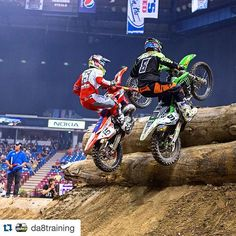 #Repost @da8training ・・・ Cool photo from the awesome guys over at @motionpro of DA8 owner @destryabbott and DA8 Elite Athlete @maxgerston fighting it out in the @enduro_cross main event! #endurocross #enduro_cross