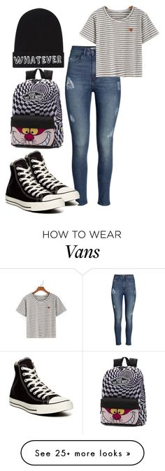 """Read the hat"" by chap15906248 on Polyvore featuring H&M, Converse, Vans and Local Heroes"