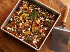 Get Light Spicy Zucchini and Tomato Casserole Recipe from Food Network