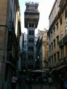 Elevator in Lissabon