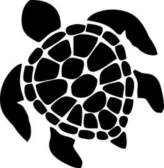 One Color Vinyl Cut Out Hawaiian Turtle Sticker. Our Hawaiian Turtle stickers are very easy to apply and are designed specifically for outdoor use. Buy your Hawaiian Turtle Sticker from Car Stickers! Turtle Silhouette, Silhouette Images, Turtle Outline, Art Surf, Tattoo Kind, Art Hippie, Pyrography, Painted Rocks, Vinyl Decals