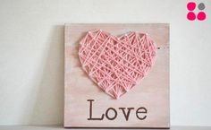 Image about love in ideas de regalos 🎁 by Jen Bretado Diy Arts And Crafts, Decor Crafts, Art Decor, Love Gifts, Diy Gifts, String Art, Sewing Crafts, Crafty, Valentines