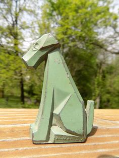 "Antique Art Deco Green Painted Vintage Cast Metal Dog Almar N Y 1930s Toy 2 75"" | eBay"