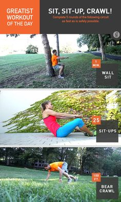 Greatist Workout of the Day: Sit, Sit-Ups, and Crawl! #fitness #bodyweight #workout