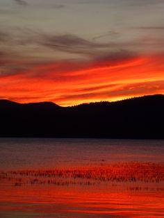 Sunset on Coeur d'Alene Lake, Idaho