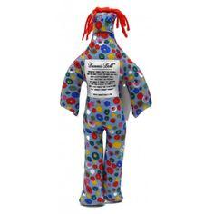 Dammit Dolls - Blue Cartoon Flowers - $14.99