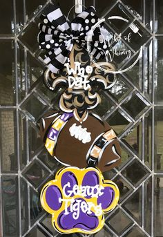 Fan Creations NCAA LSU Tigers 12 Round Dads Garage Wood Sign