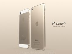 iPhone 6 concept in gold, comparison to iPhone 5S  A new concept shows a possible version of a gold iPhone 6.