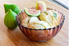 Mascarpone Ice Cream with Caremalized Figs