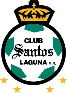 Club Santos Laguna of Mexico crest. World Football, Football Soccer, Soccer Teams, Mexican Soccer League, Fifa, Badges, Club Santos, Baseball Pennants, British Football