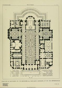 Floor plan of the Basilica di Santa Maria Maggiore, Rome