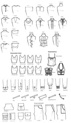Fashion Drawing reference for writers - akoyam: pleaseinsertcoins: More scans from. - reference for writers – akoyam: pleaseinsertcoins: More scans from… Fashion Terminology, Fashion Terms, Trendy Fashion, Fashion Kids, Style Fashion, Fashion Design For Kids, Fashion Men, Fashion Details, Diy Fashion